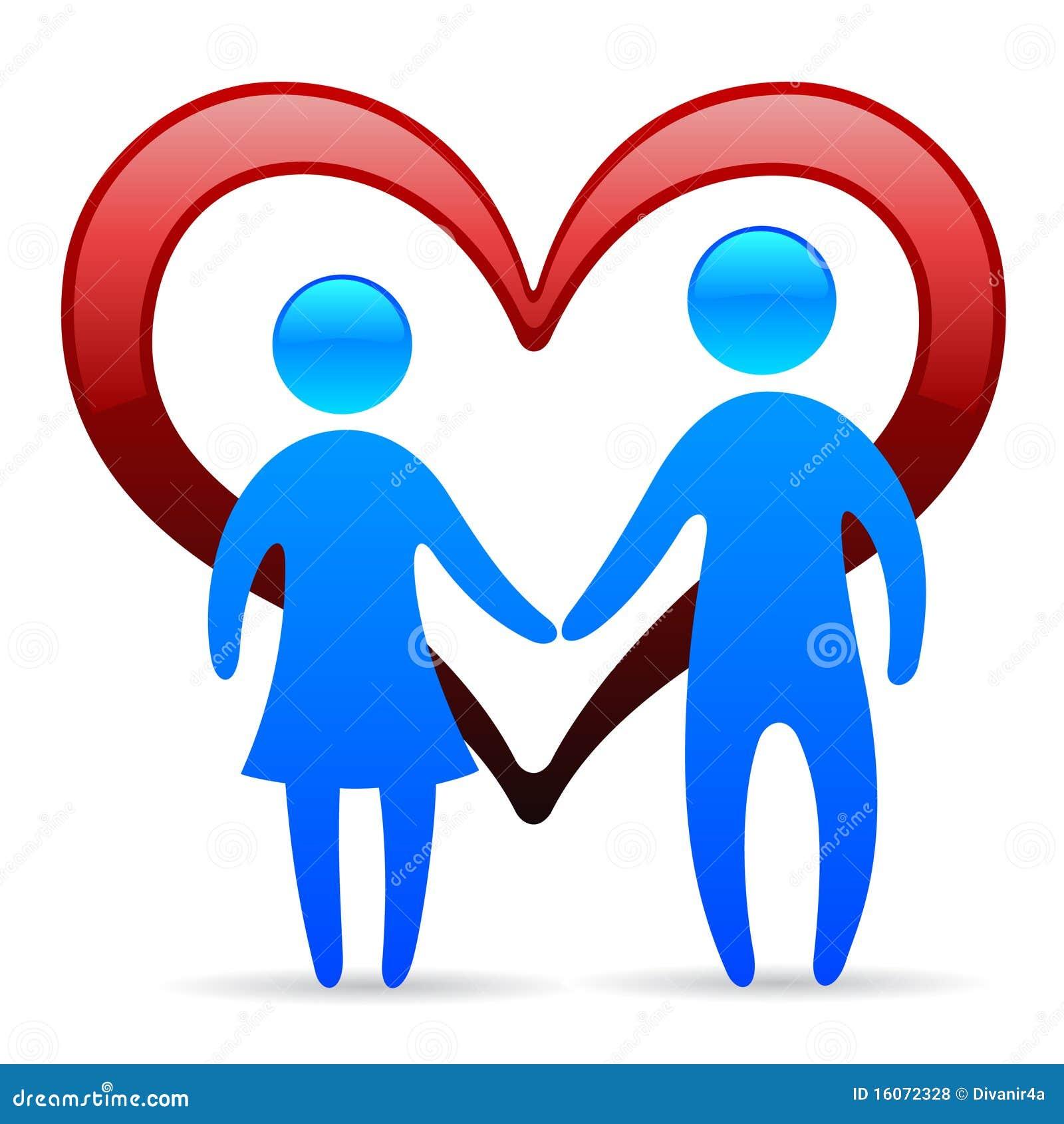 loving couple symbol stock illustration image of bond