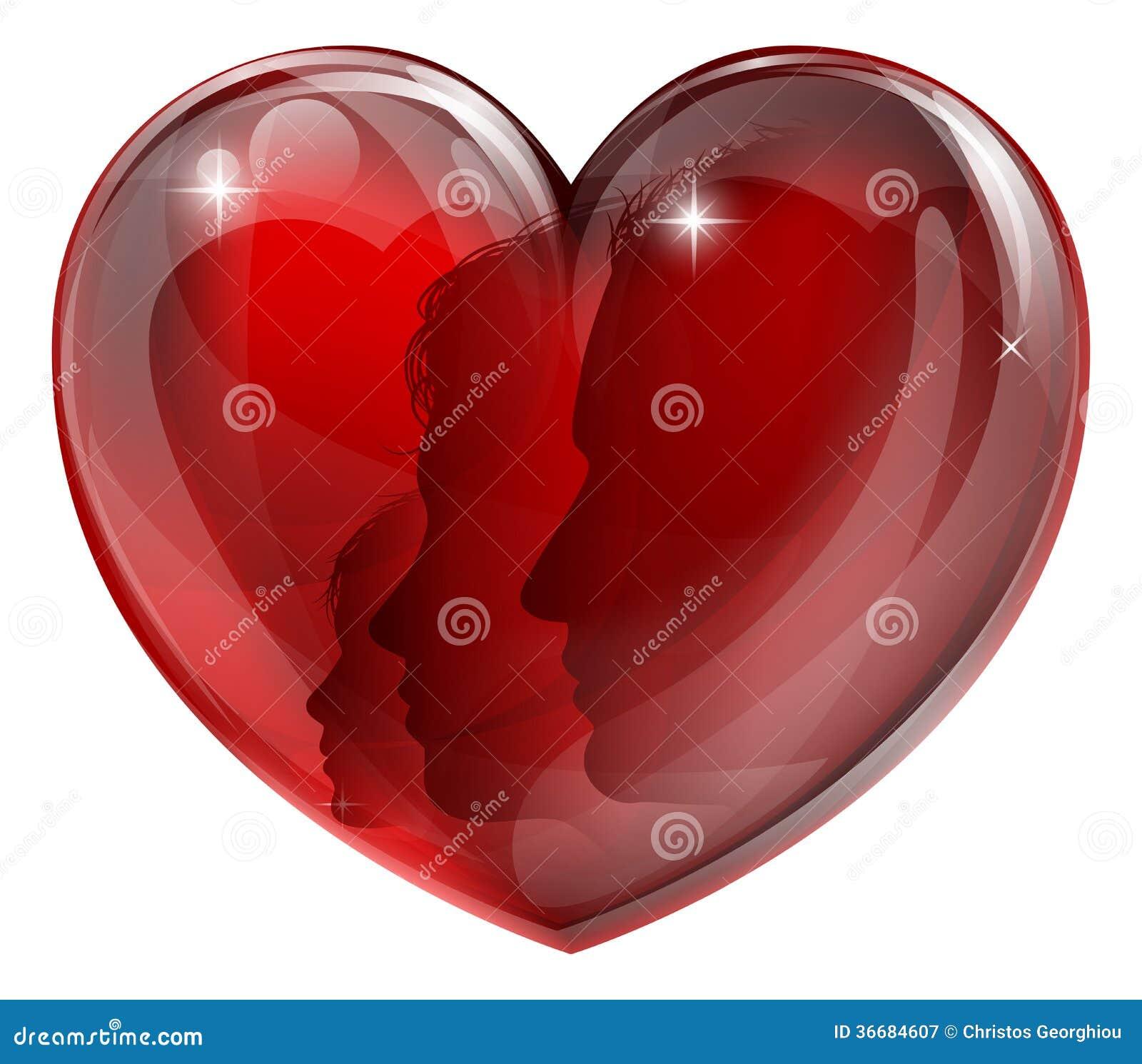 Loving Family Heart Stock Vector Illustration Of Face 36684607
