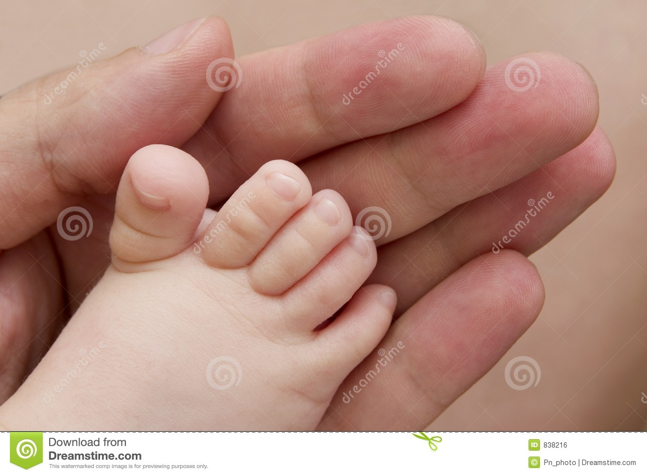 Loving father touch