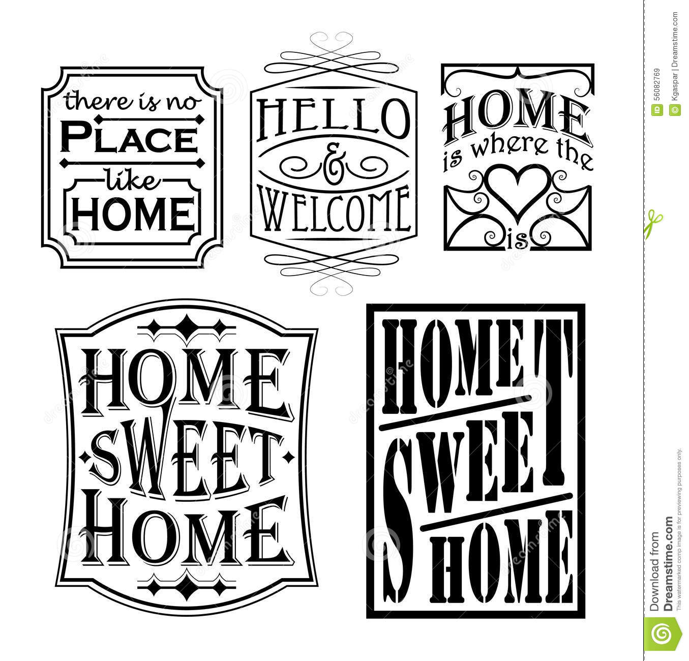Loving Home Signs Stock Vector Image 56082769