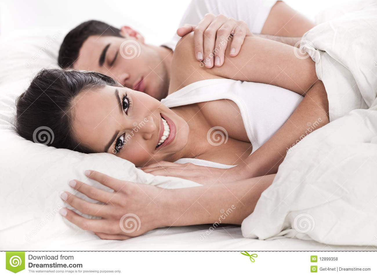 Loving Husband Wife Lying Bed Stock Images Download 960 Royalty
