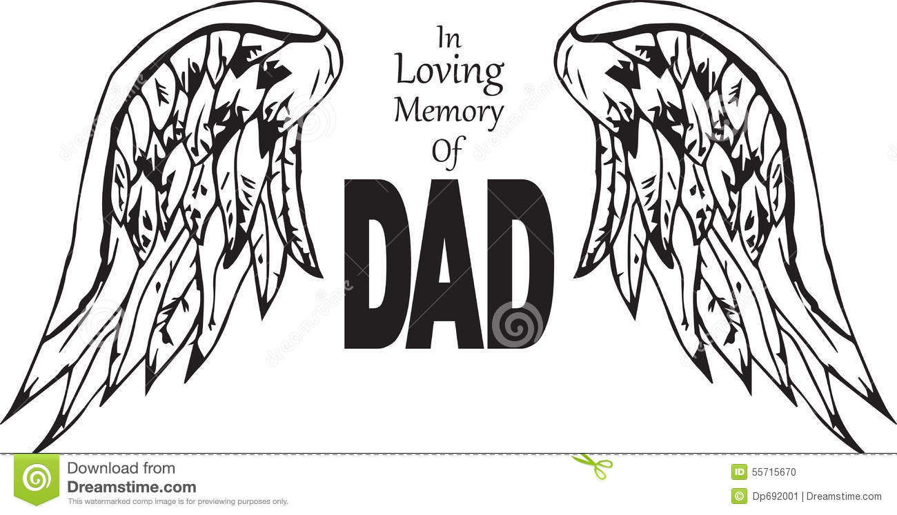 in loving memory of dad stock illustration. illustration of, Powerpoint templates