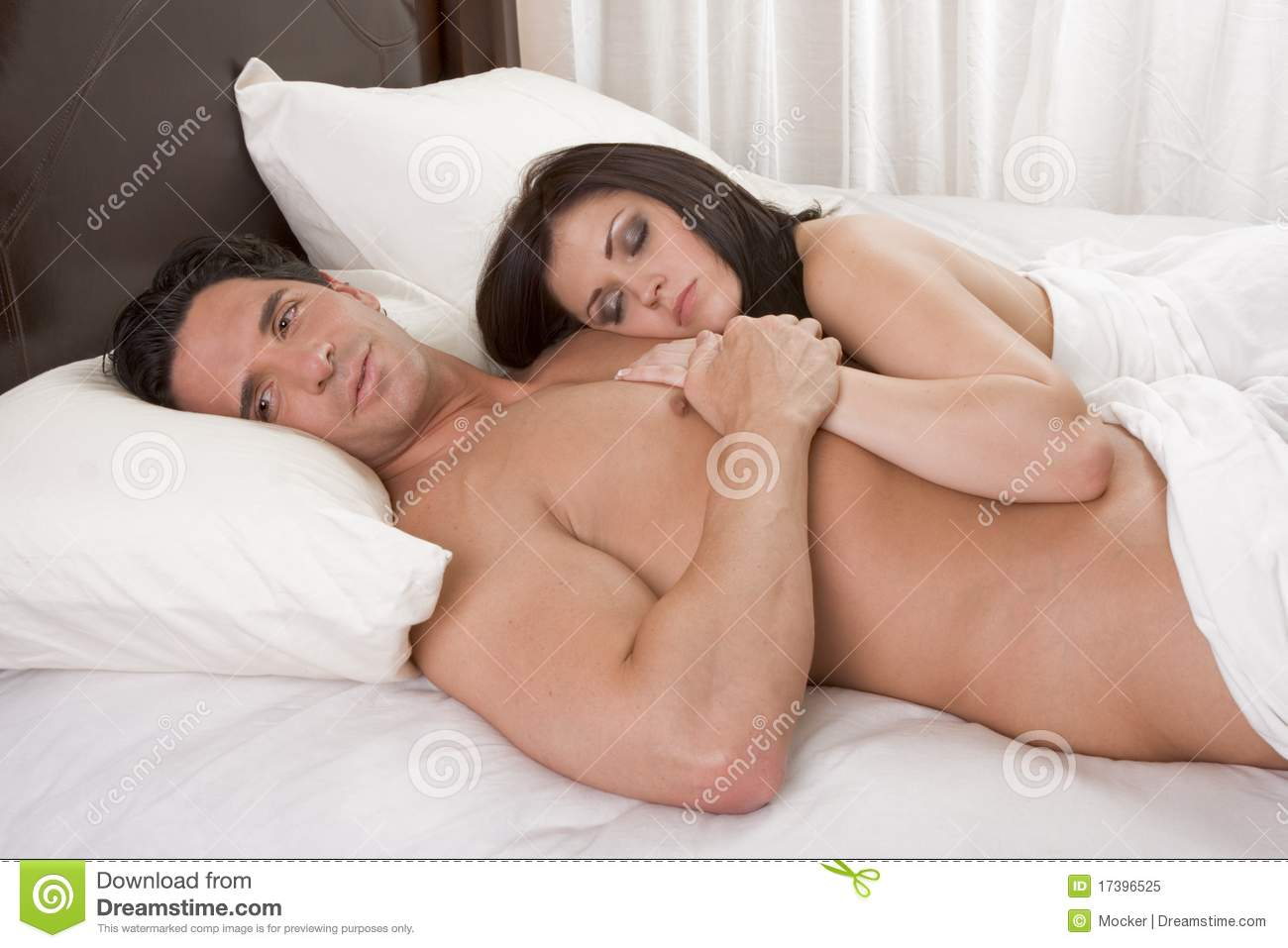 young couple sleep fuck
