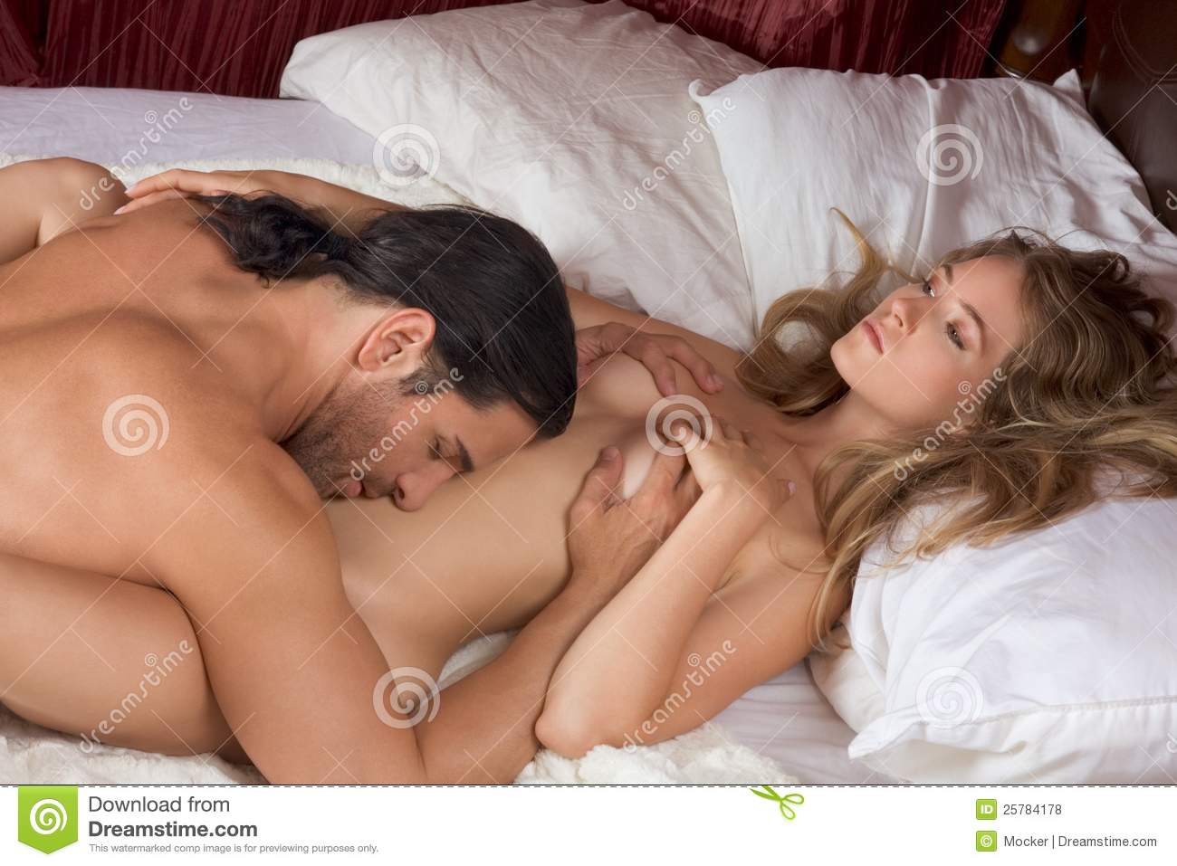 Hot couple sex on bed