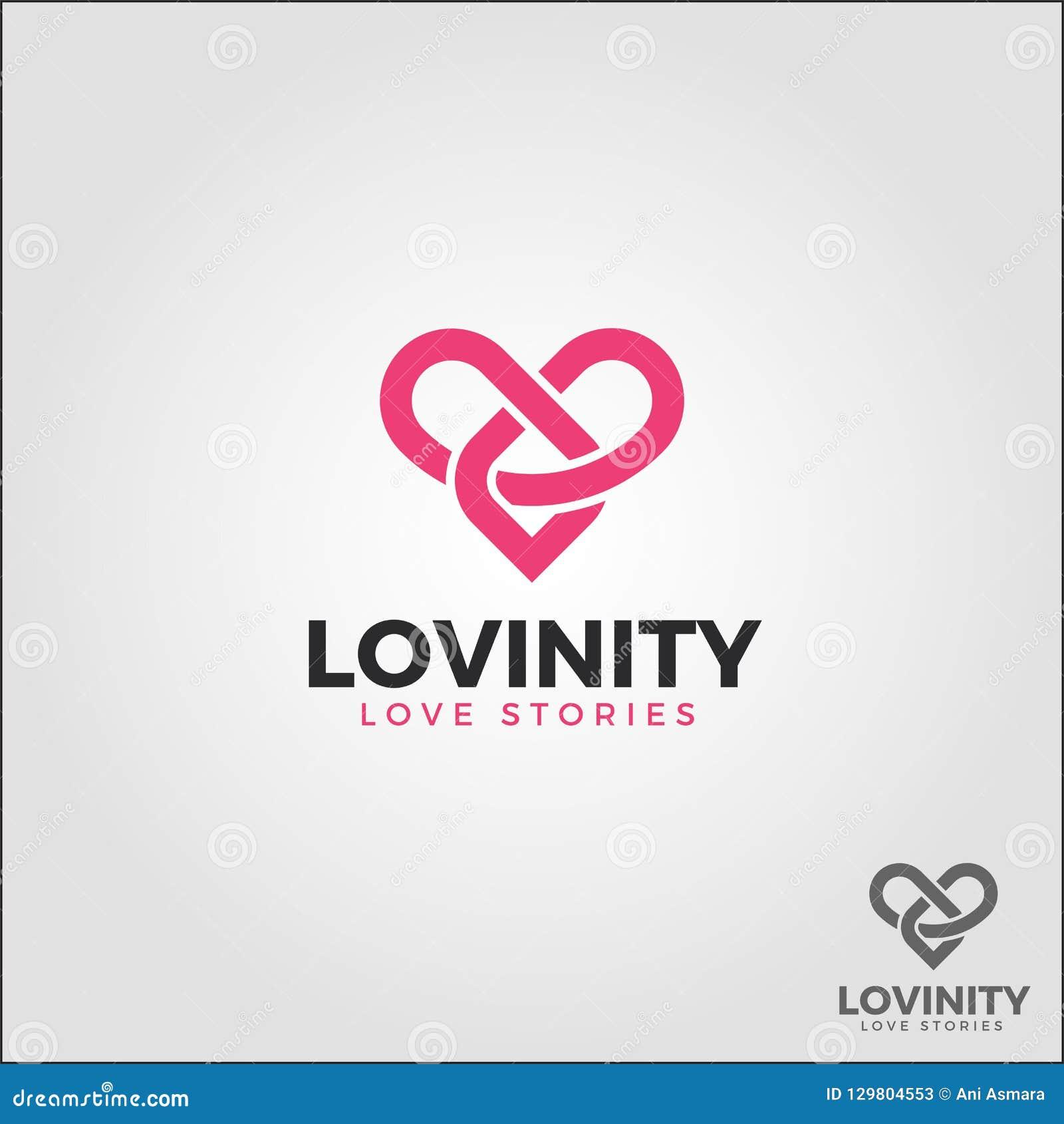 Lovinity/amor del infinito - logotipo eterno del amor