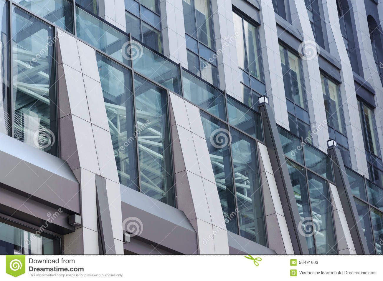 Low angle of modern glass building stock photo image for Balcony underside