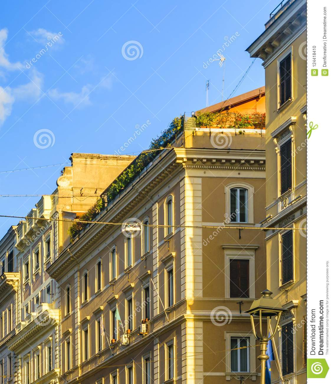 Apartment Buildings, Rome, Italy Editorial Image - Image ...