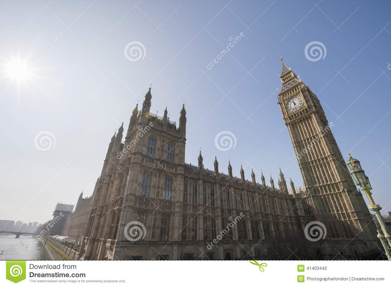 big view photography. Low Angle View Of Big Ben And Parliament Building Against Clear Sky At London, England Photography M