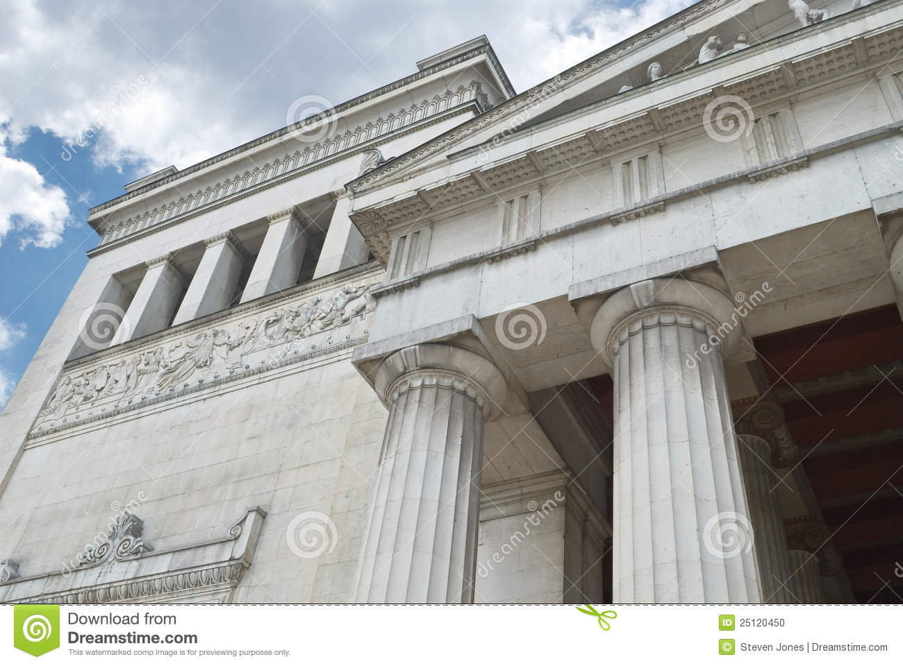 low angle view classical architecture stock photo image