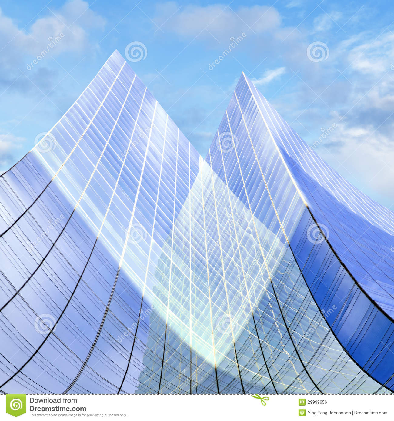 Glass Facade Of Office Building Royalty Free Stock Image: Glass Facade Of Office Building Royalty Free Stock Image