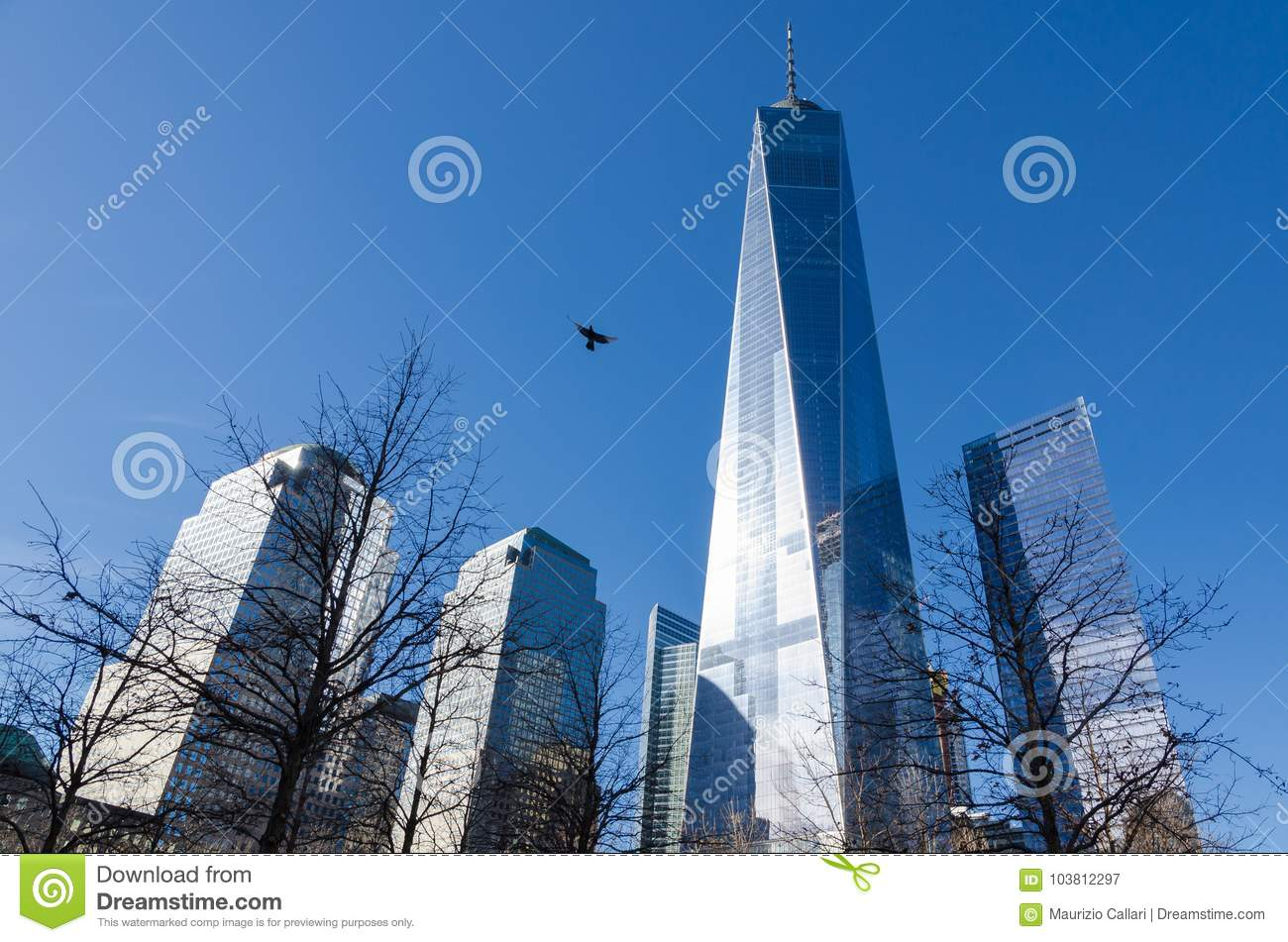 Low-angle view of One World Trade Centre, New York