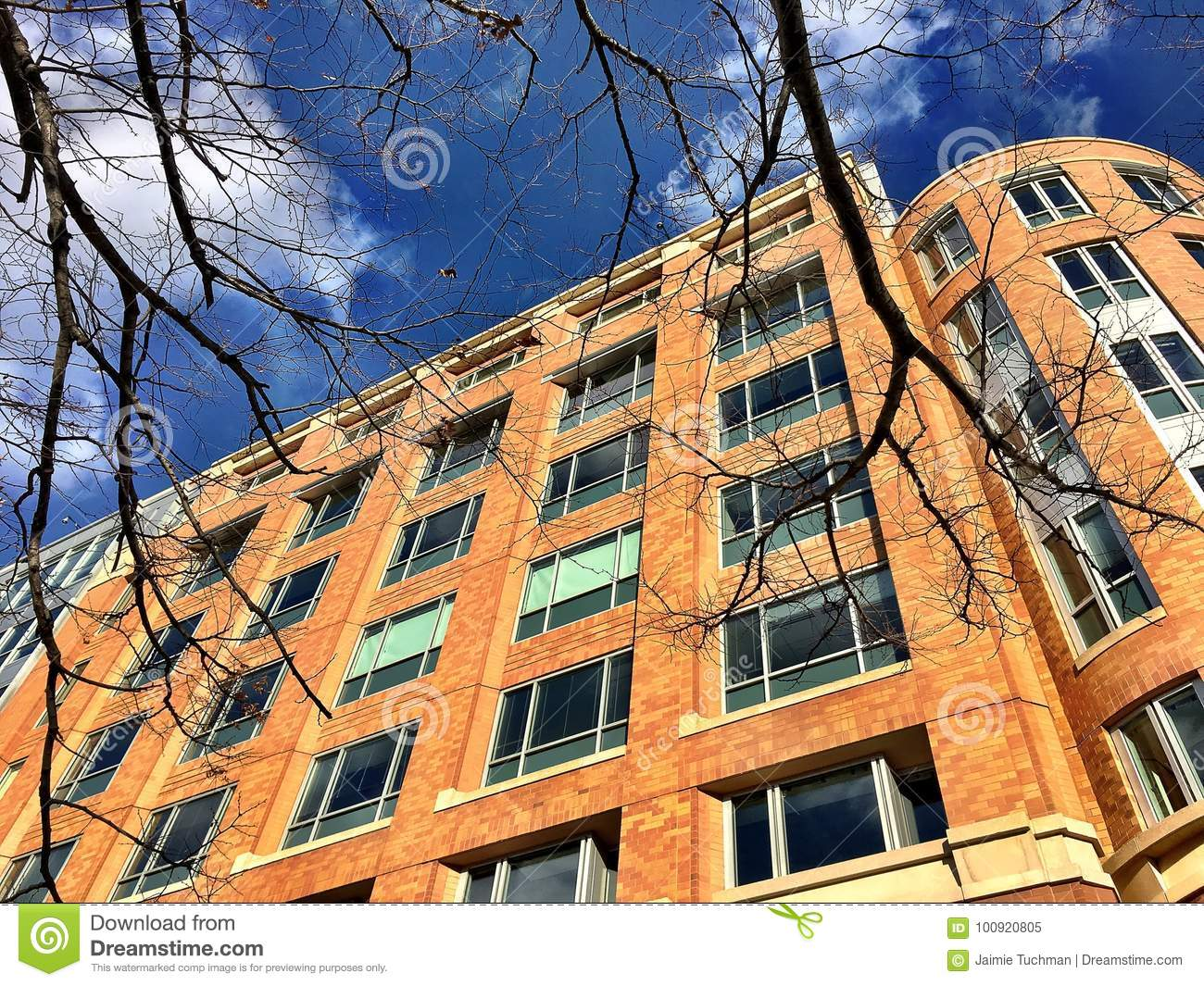 Download Brick Apartment Building Stock Image. Image Of States   100920805