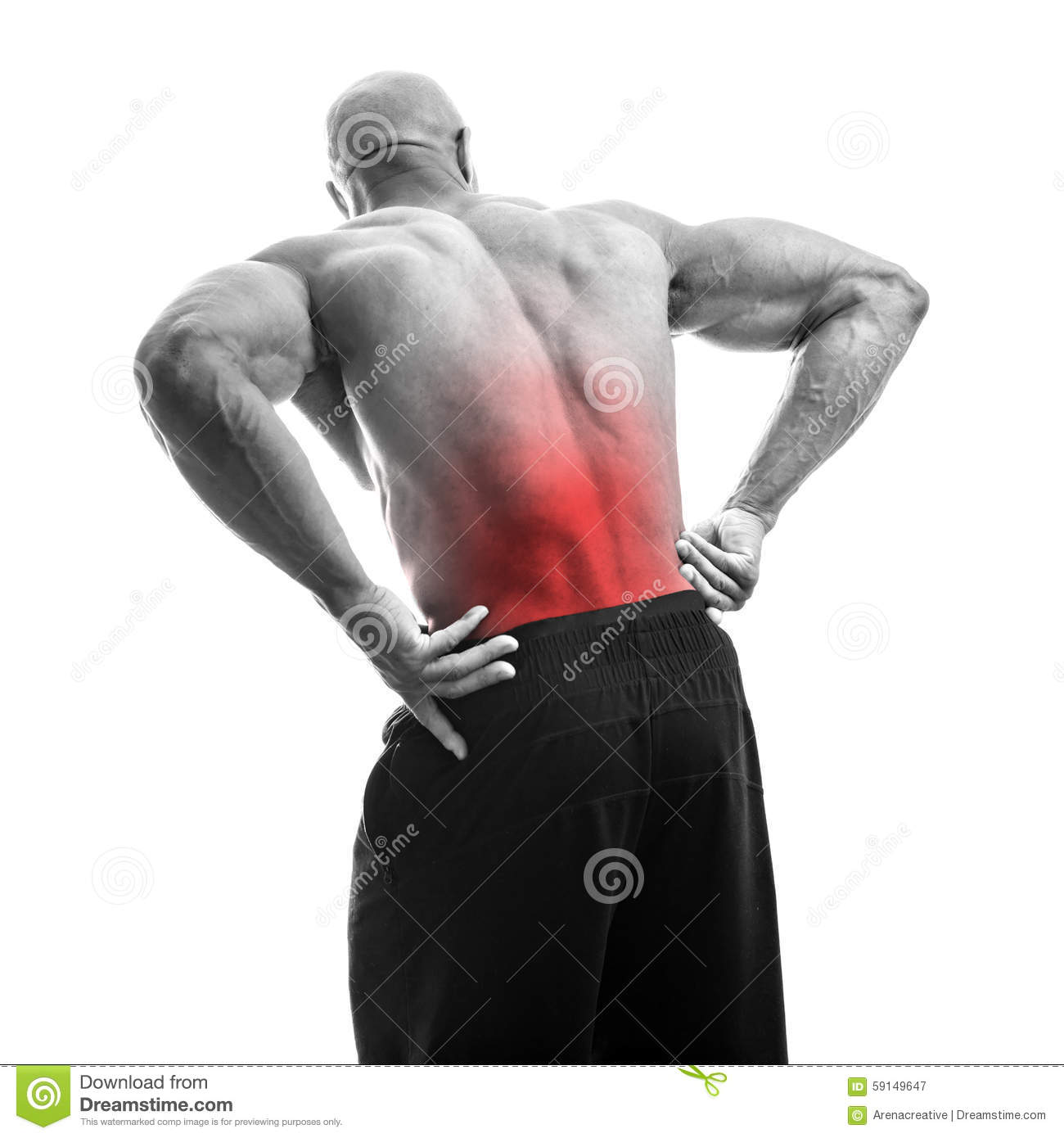Low Back Pain Stock Image Image Of Pain Muscles Dude 59149647