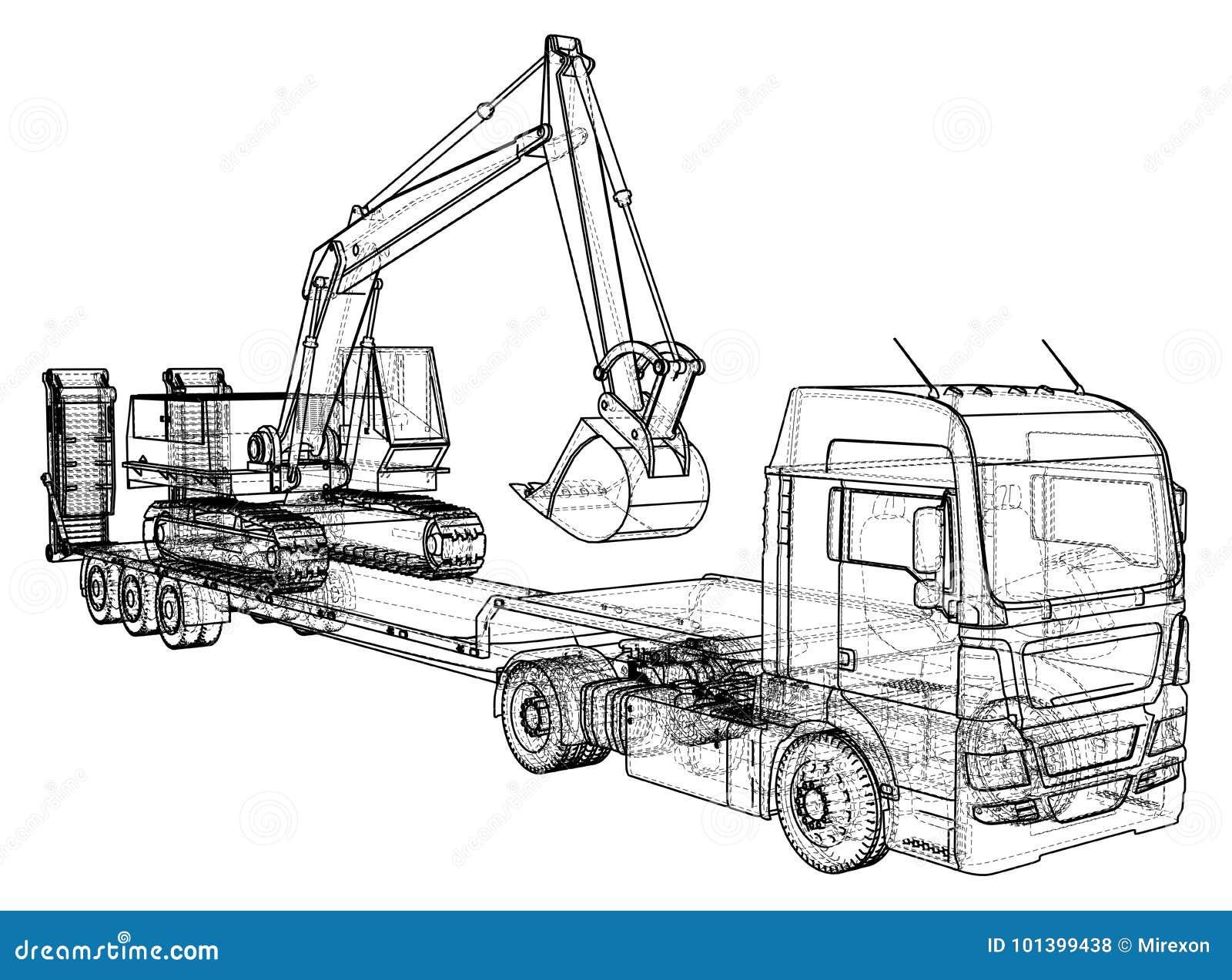Disegni Da Colorare Camion Con Rimorchio