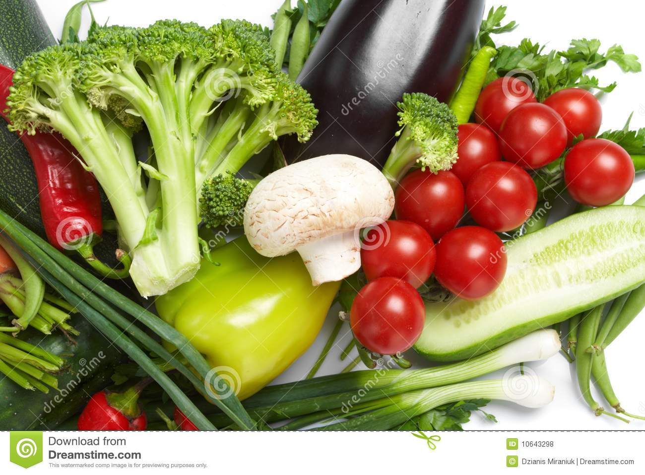 Low Calorie Vegetables Stock Photo Image Of Tomato Green 10643298