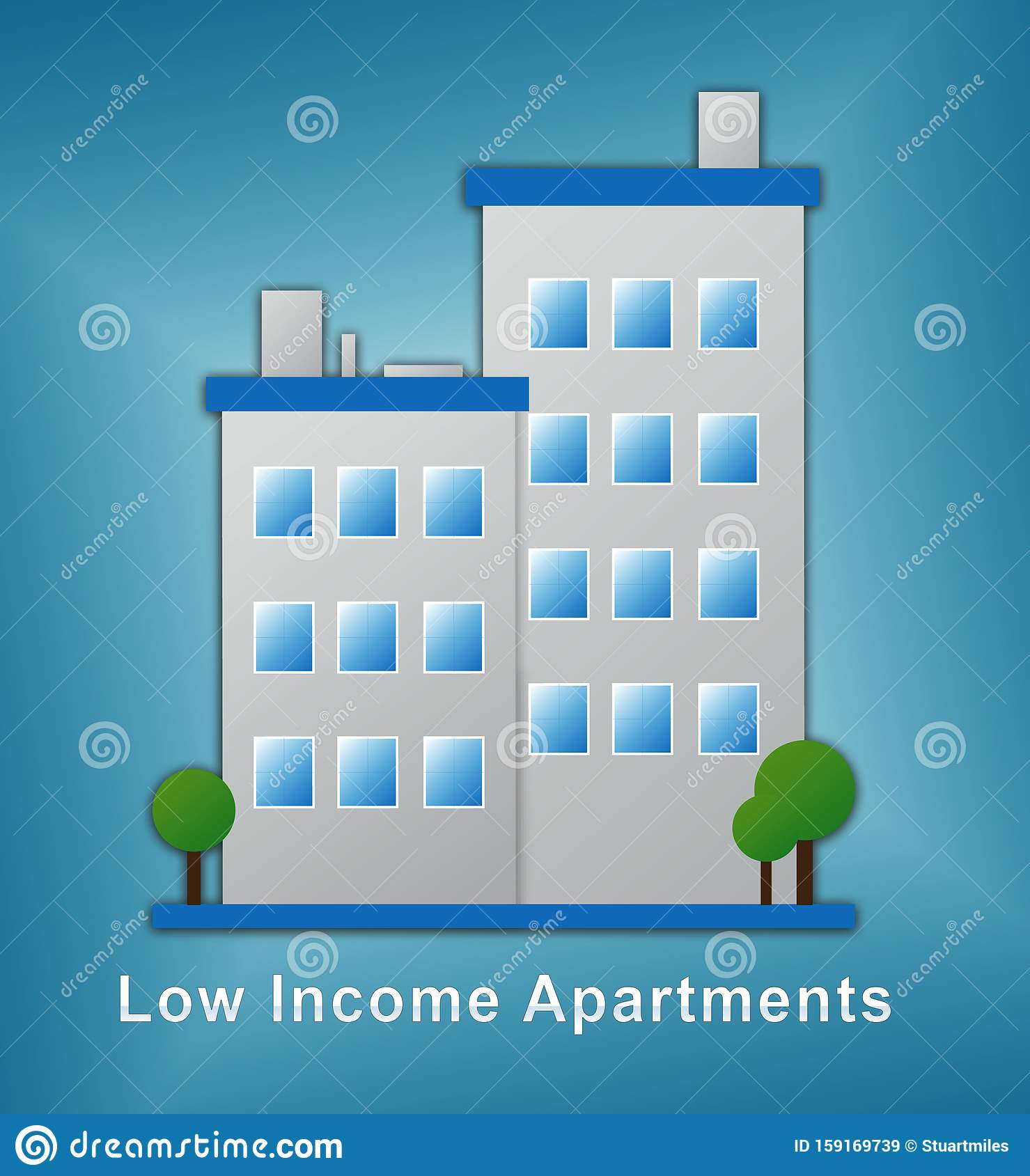 Low Income Apartments And Condos Building Demonstrating