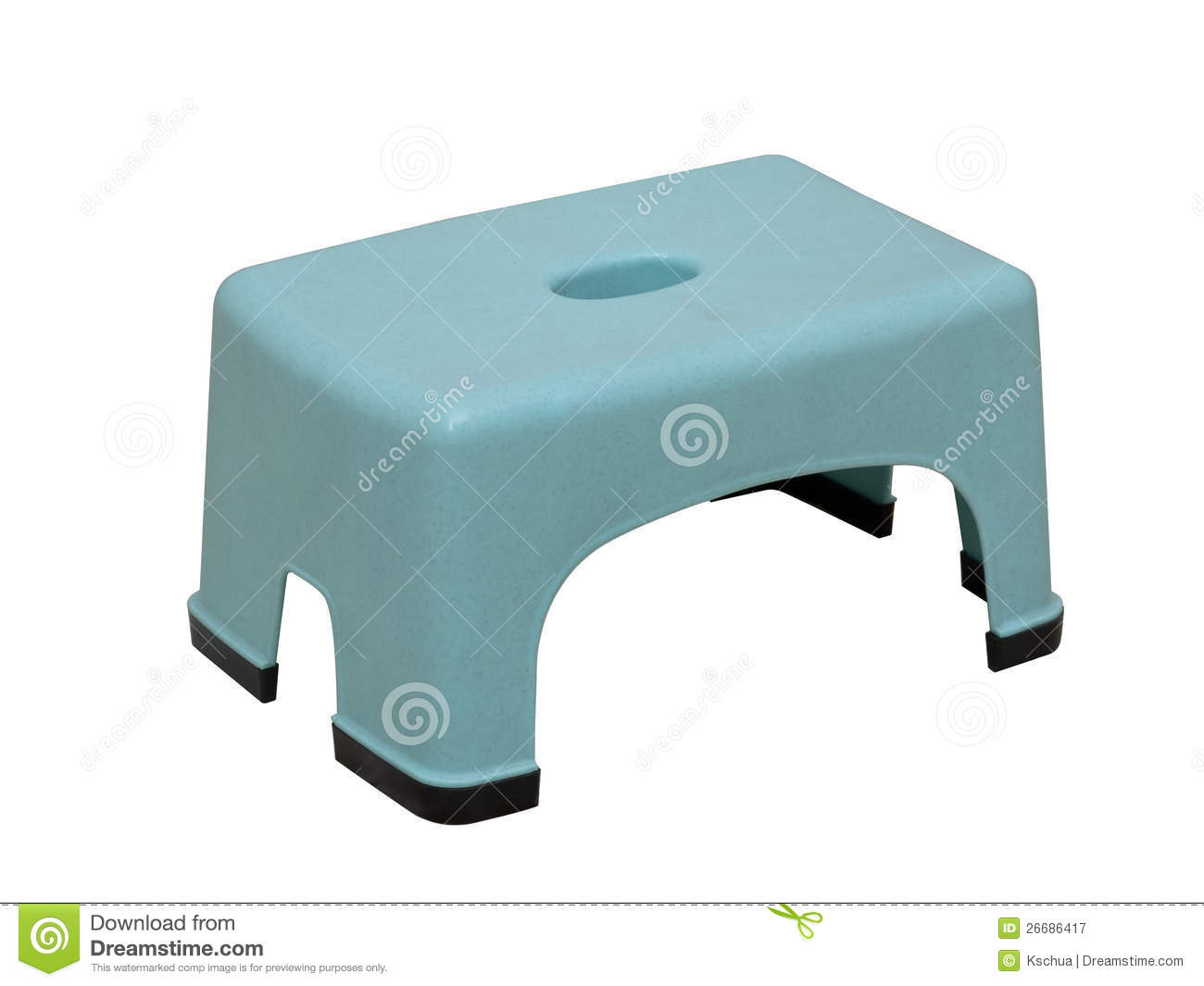 Low Plastic Stool Stock Image Image Of Safe Foot Non