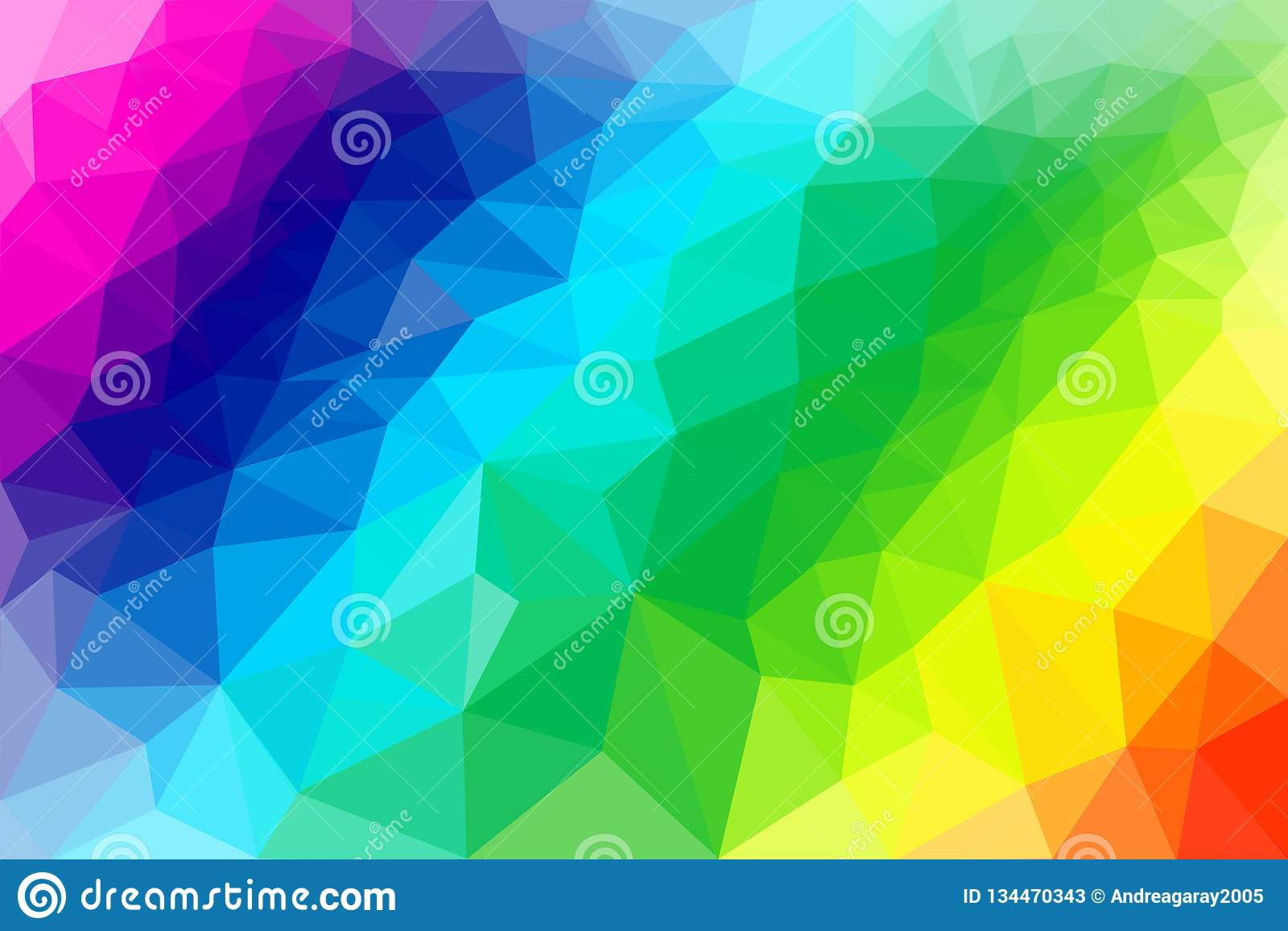 Low Poly abstract background illustration rainbow colours