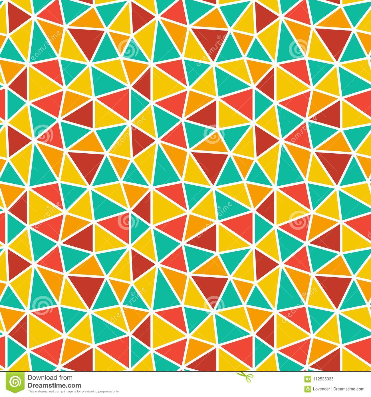 Low poly bright mosaic pattern. Seamless vector background