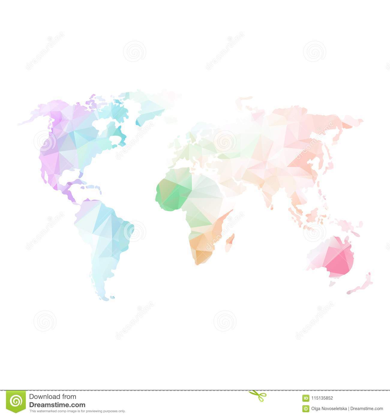 Low poly global world map stock vector illustration of planet download comp gumiabroncs Image collections