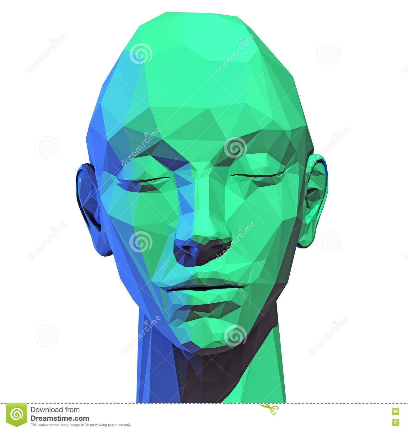 Low Poly Human Head Stock Illustration Image 45252120