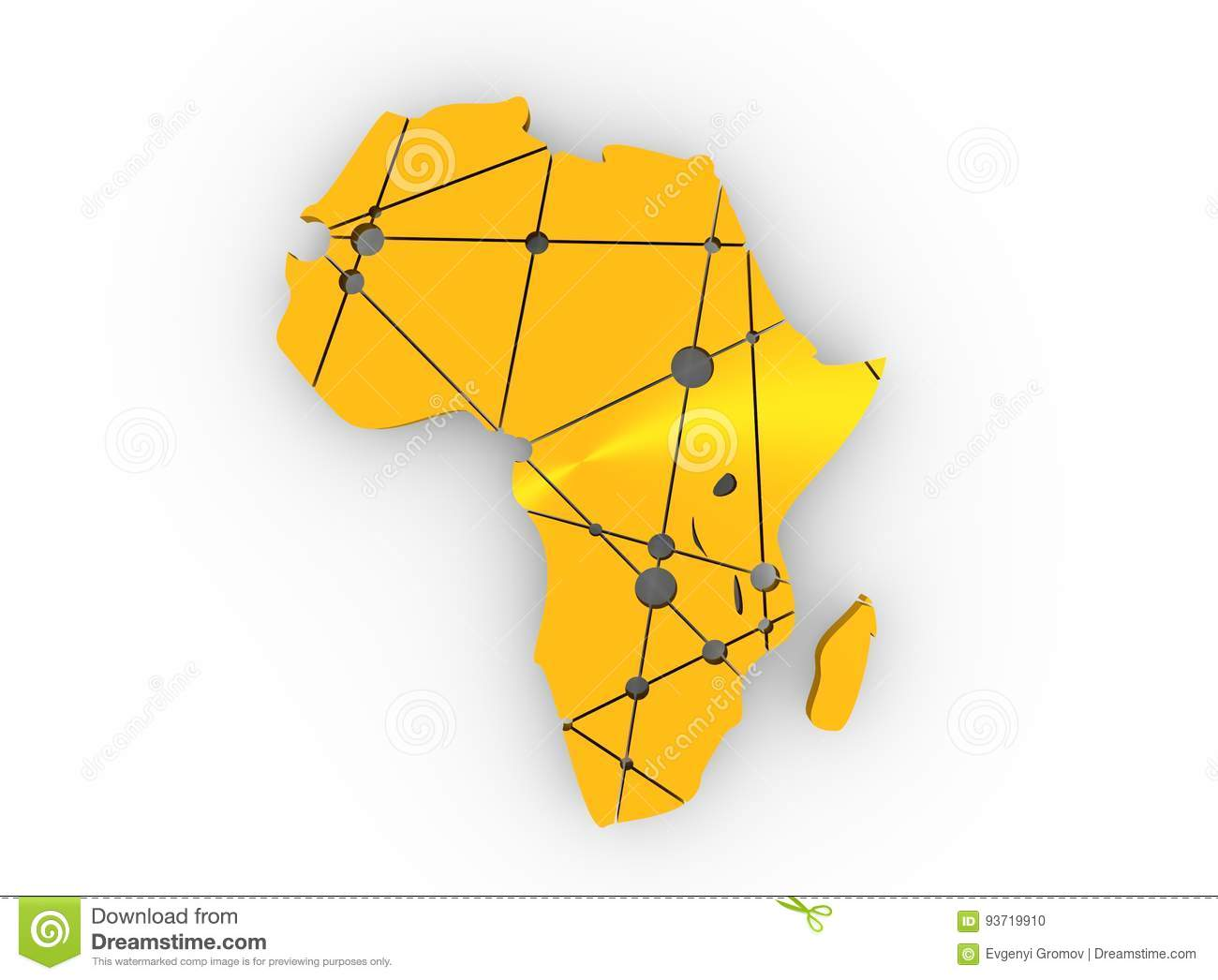 Low poly map of africa stock photo image of background 93719910 download comp ccuart Images