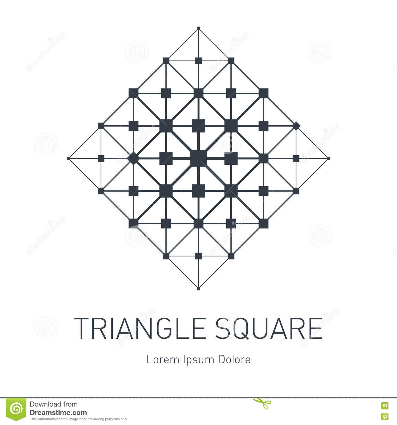 the low poly mesh modern stylish logo design element with squa