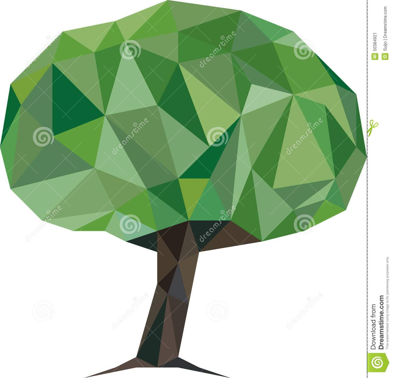 Low Poly Tree Stock Illustration - Image: 50384921