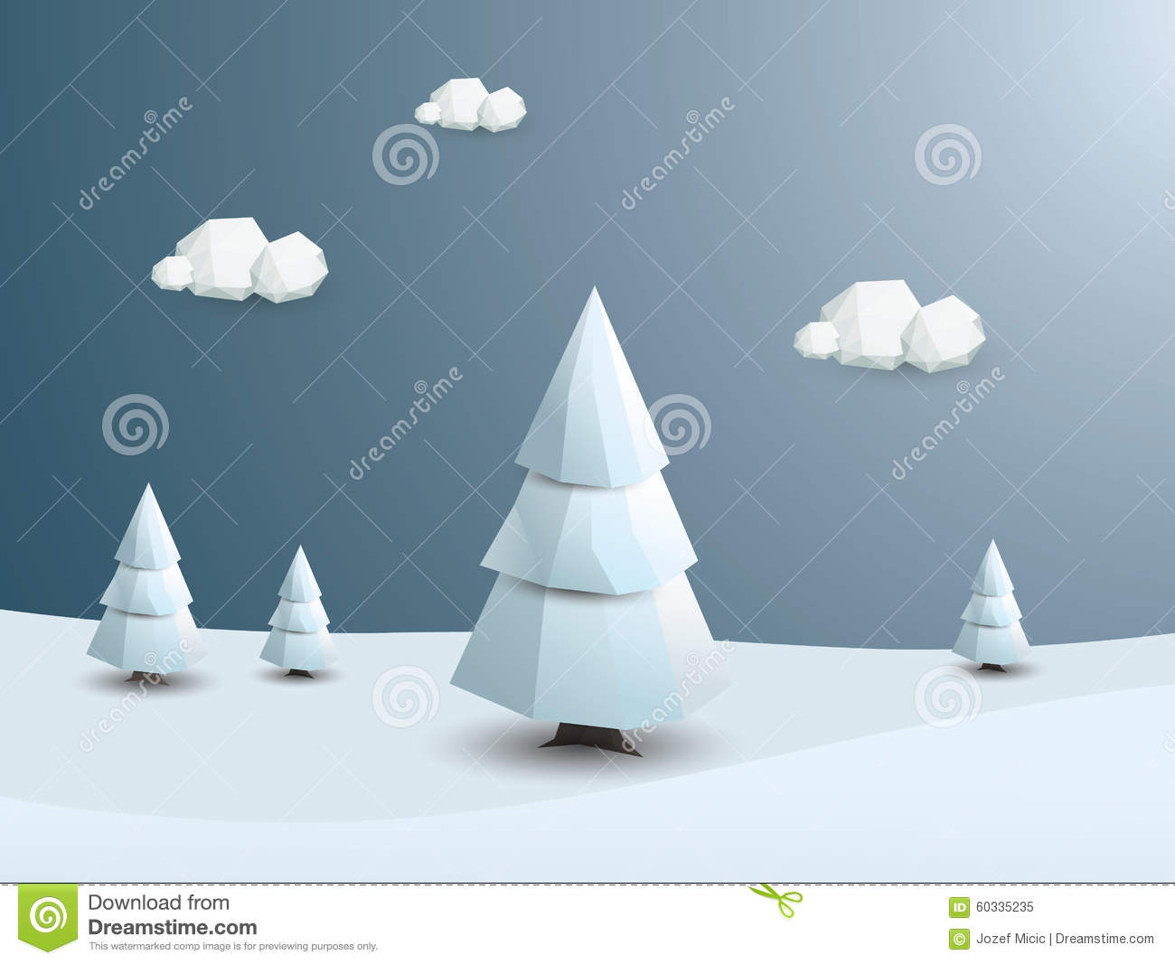 More similar stock images of 3d landscape with fall tree - Low Poly Winter Landscape Vector Background 3d Royalty Free Stock Photo