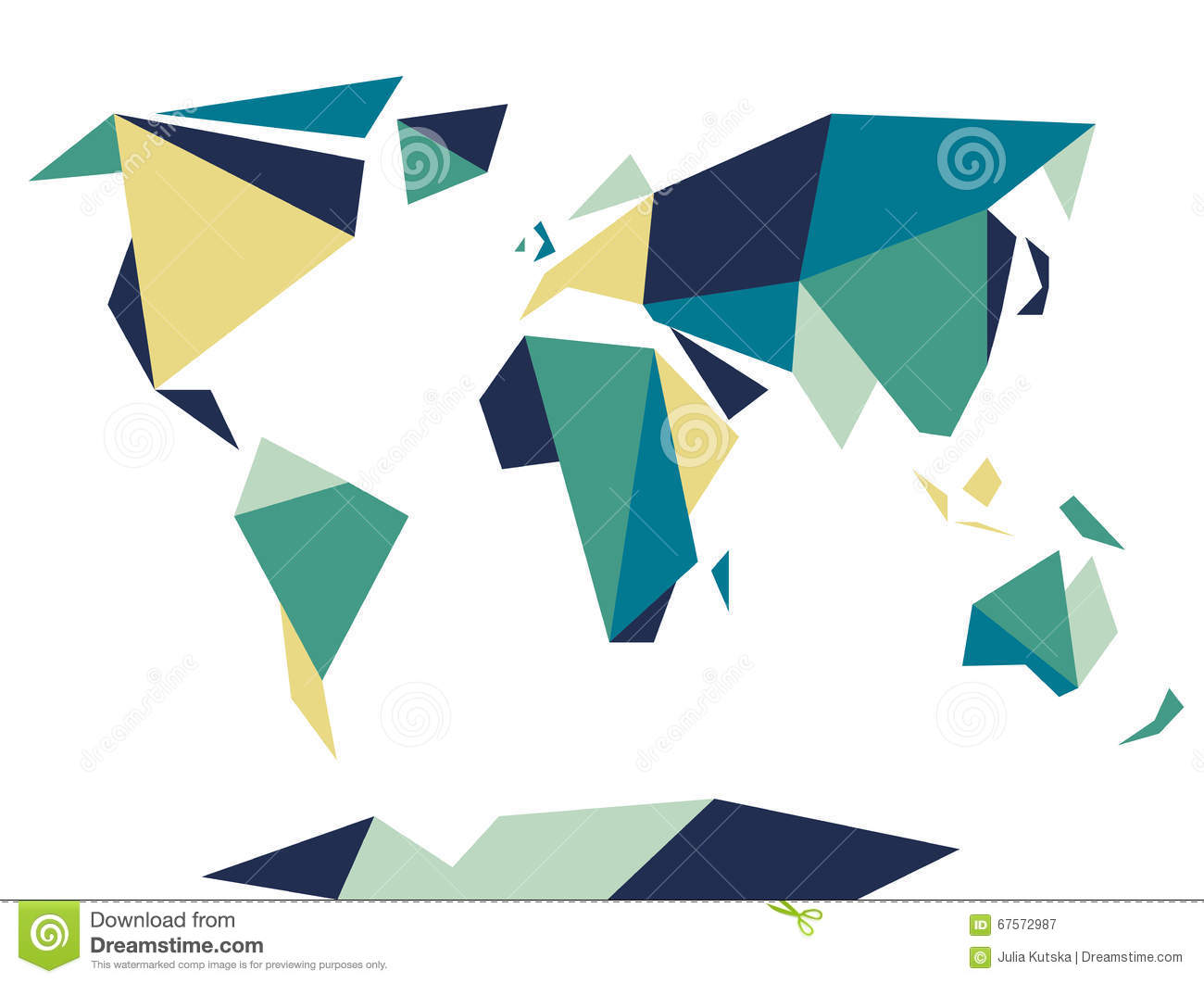 Low polygonal origami style world map abstract vector template low polygonal origami style world map abstract vector template gumiabroncs Gallery
