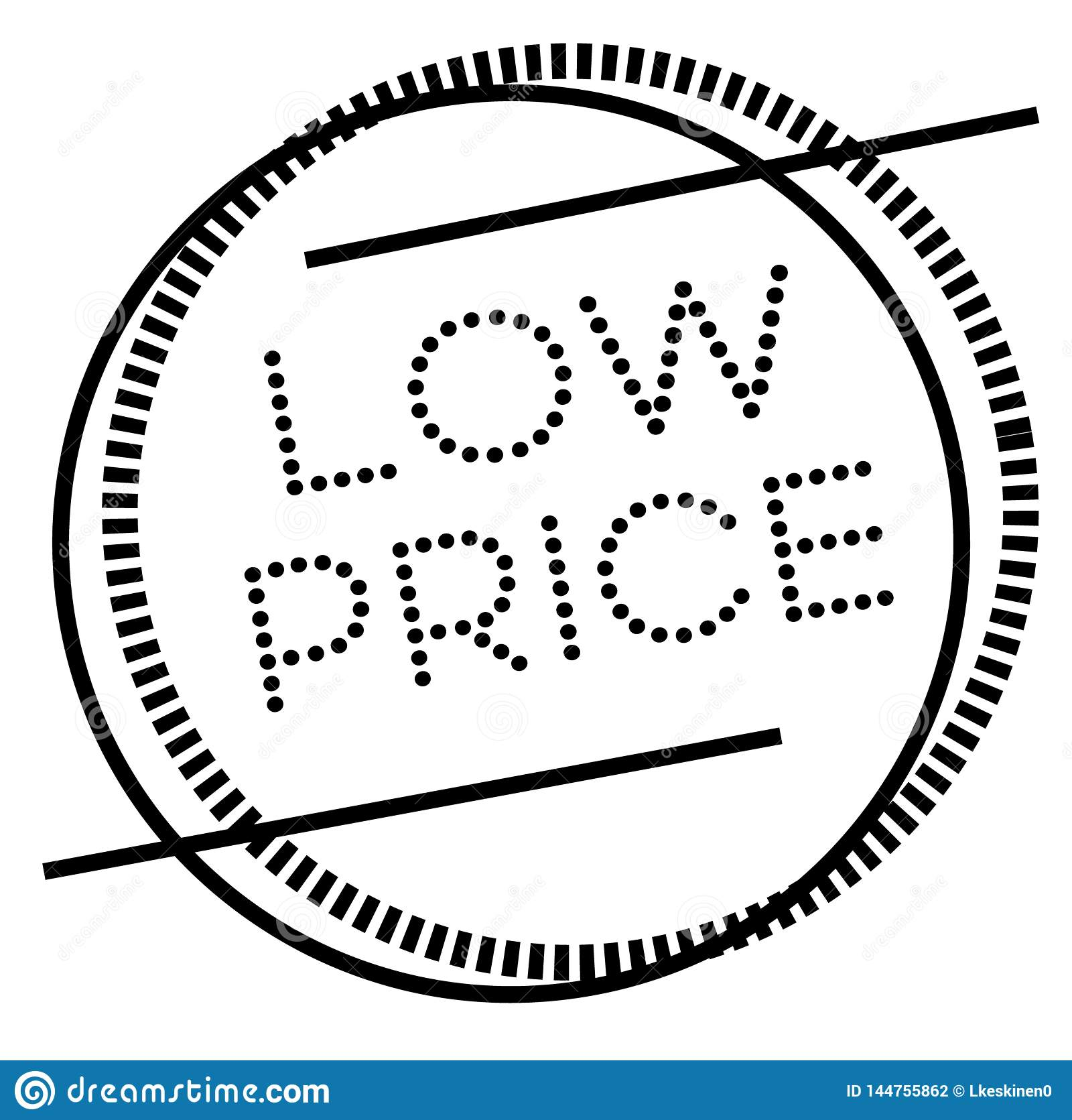 Low Price Stamp On White Stock Vector Illustration Of
