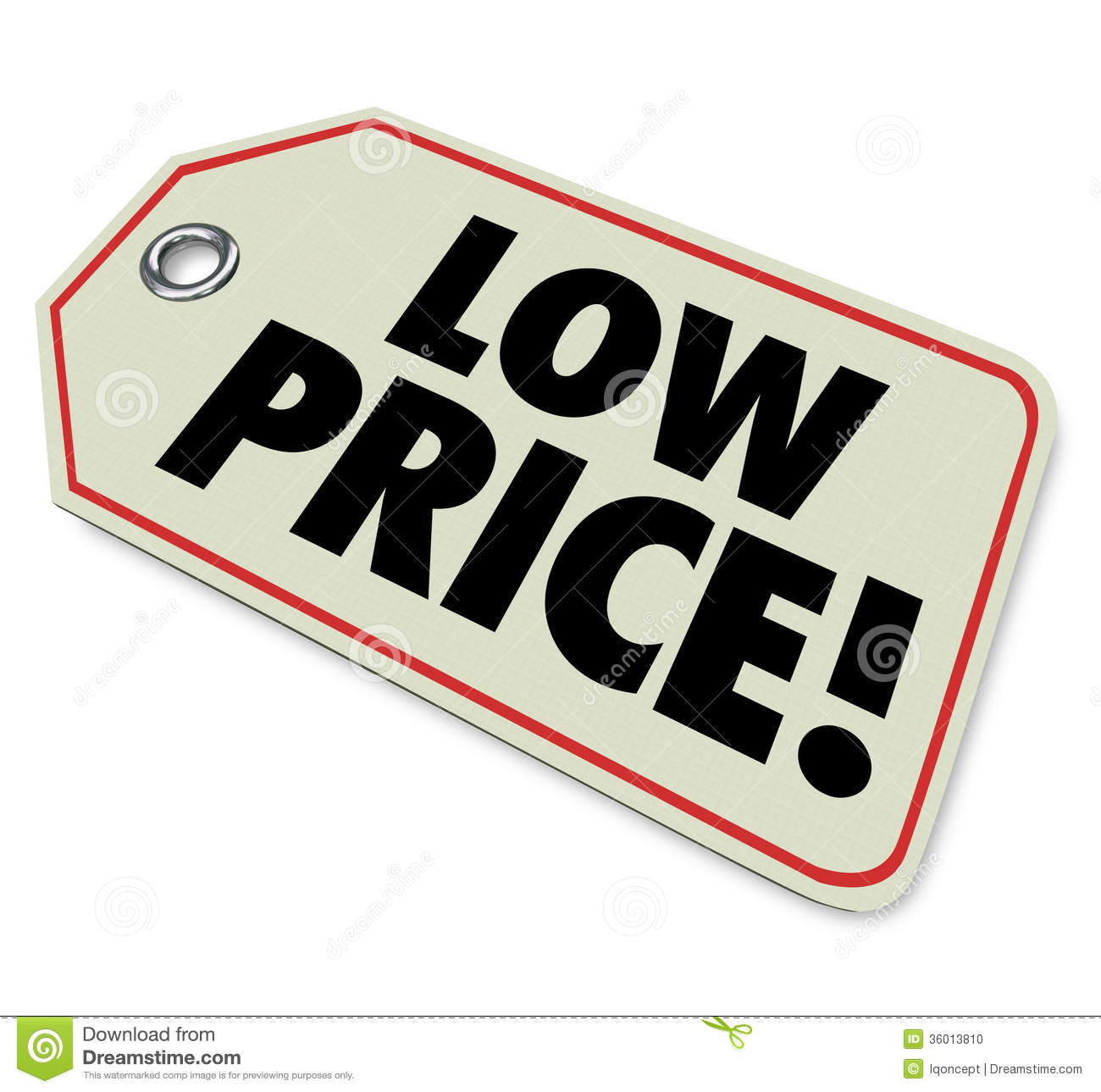 Low Price Tag Sale Clearance Discount Special Deal Stock Photo - Image ...