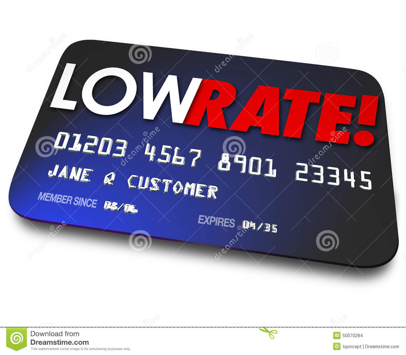 Low Rate Credit Cards Percentage Interest Charges Plastic Payment