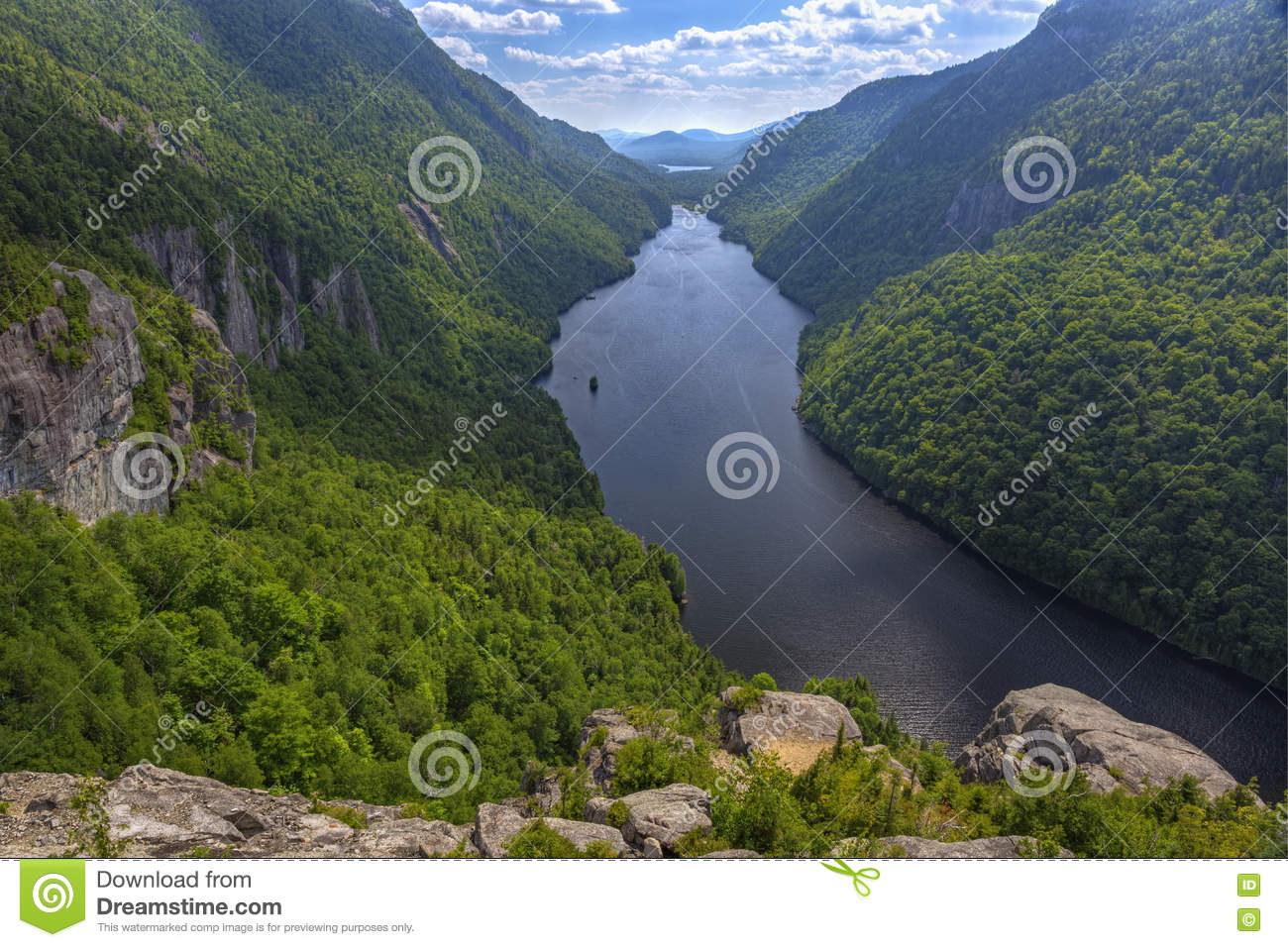 Lower Ausable Lake from Indian Head Lookout