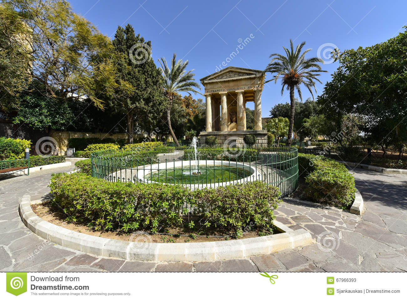 Lower Barrakka Gardens In Malta Stock Photo Image 67966393