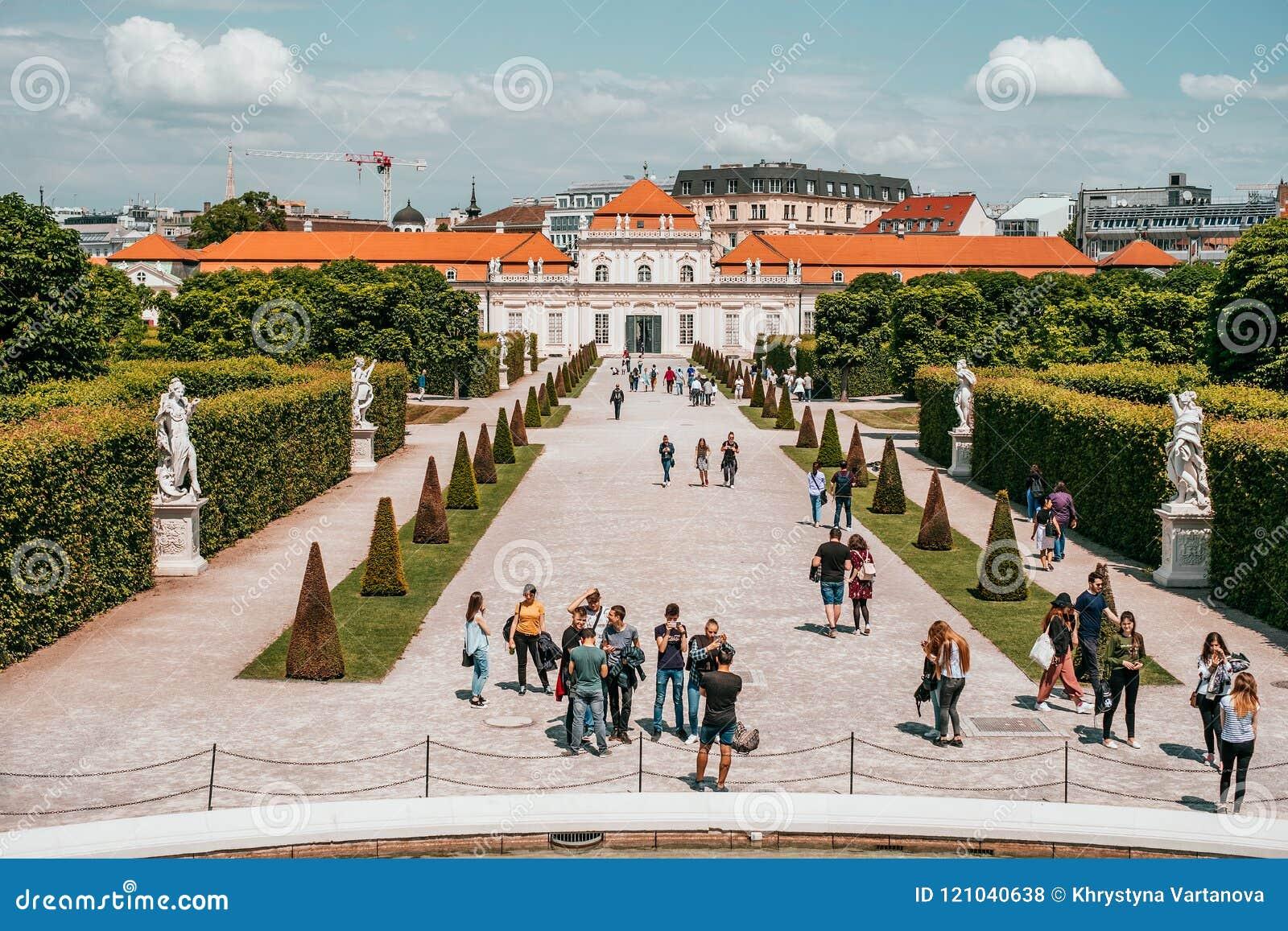 The Lower Belvedere Palace in Vienna, Austria