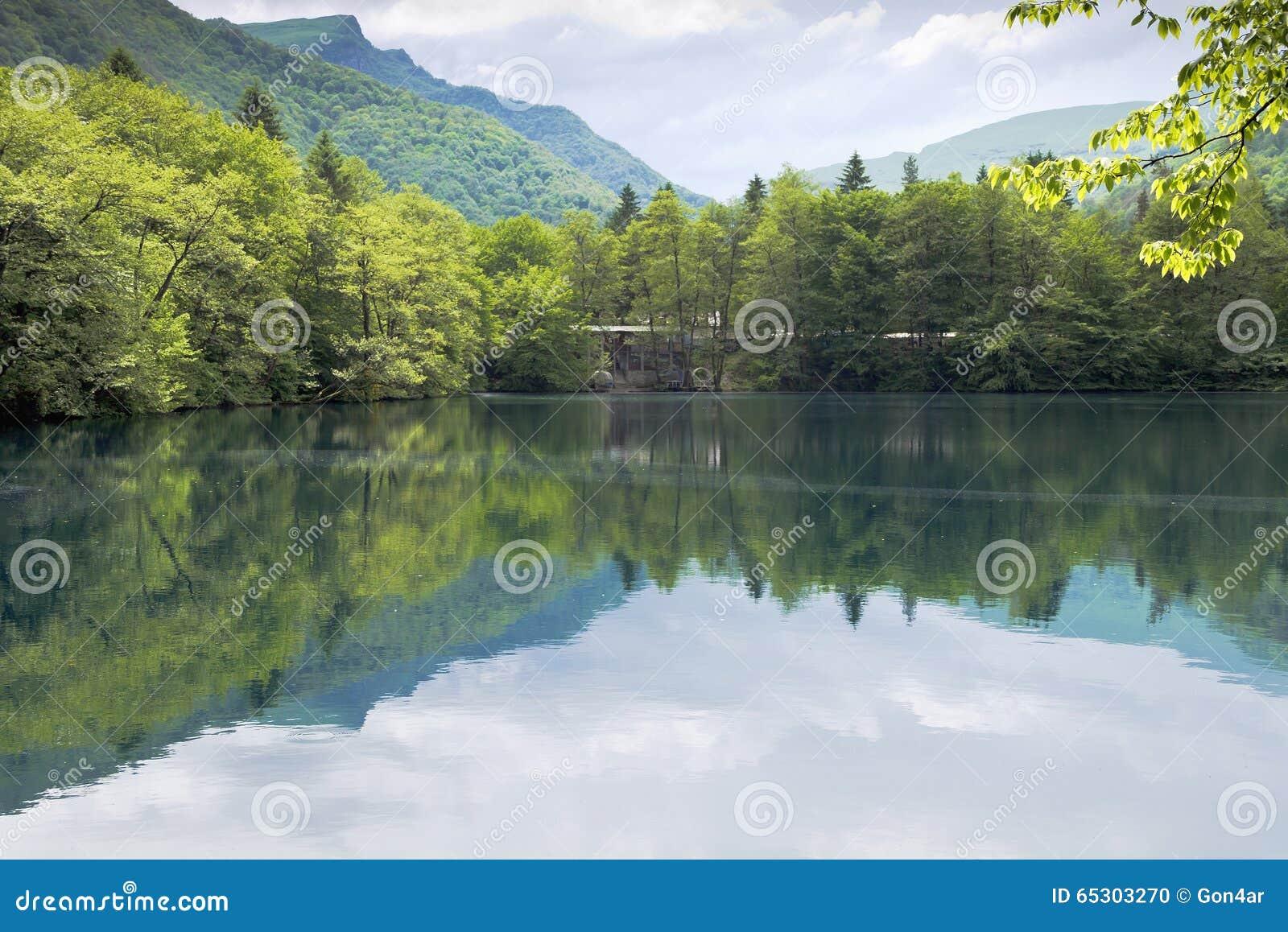 Kabardino-Balkaria. Blue Lakes where are located 17