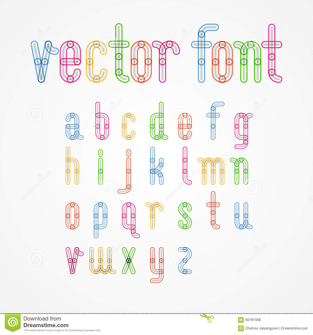 Lower Case colorful alphabet capital letters.a to z
