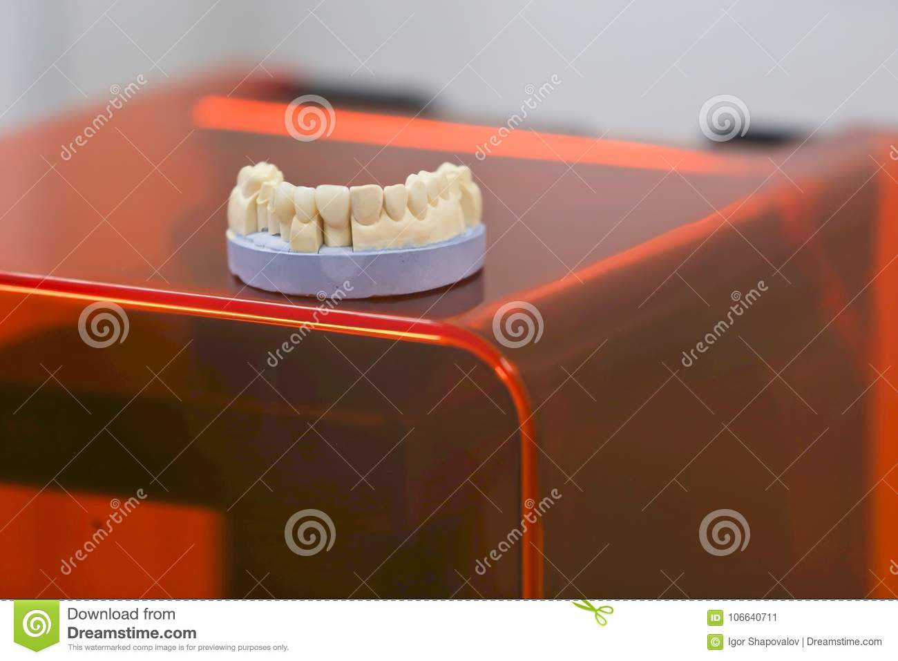 The Lower Jaw Of A Man, Created On A 3d Printer From A