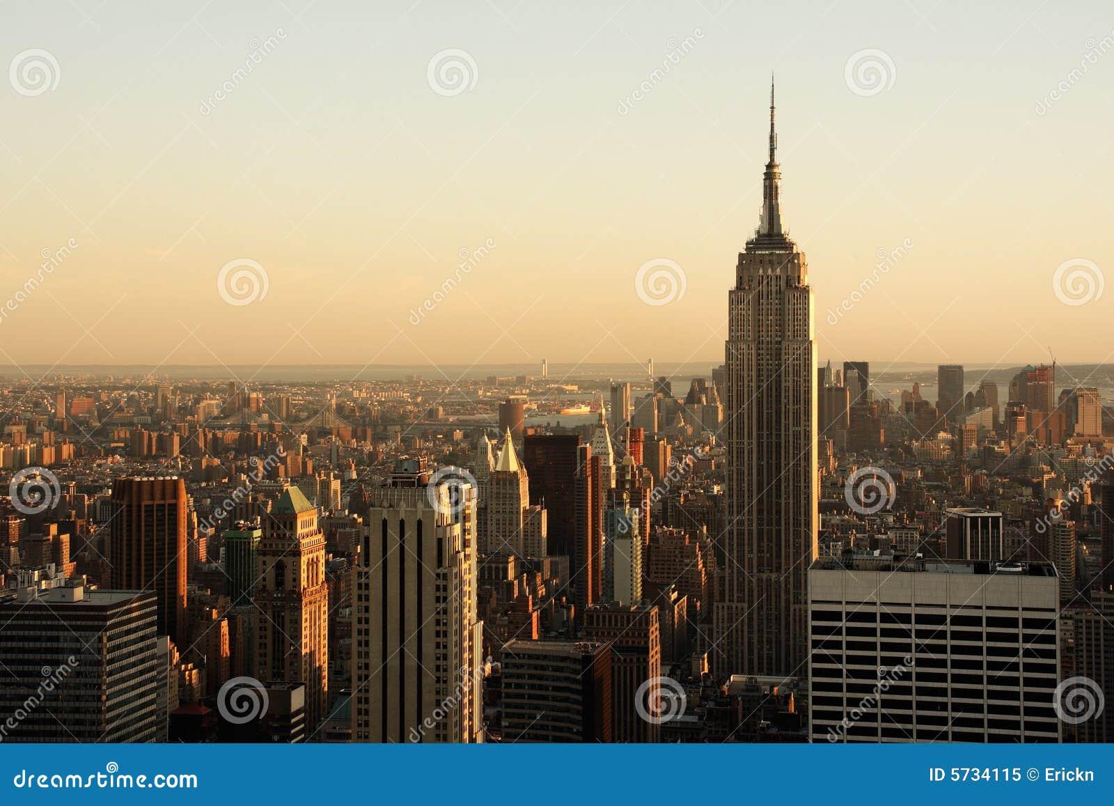 Lower Manhattan bij schemer