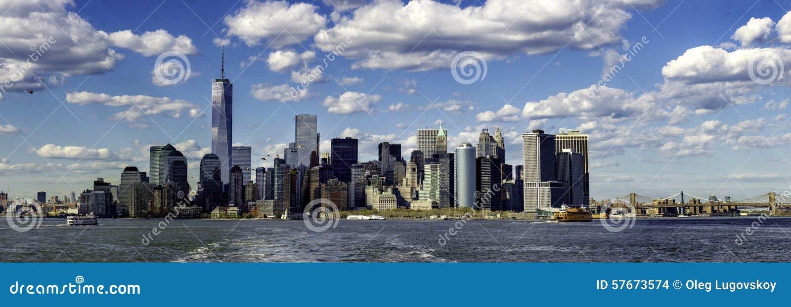 Lower Manhattan od promu