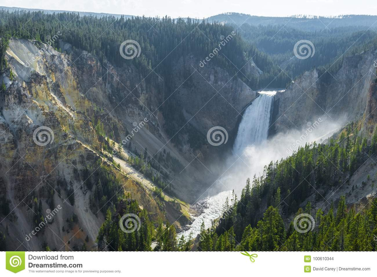 Lower waterfalls in yellowstone national park