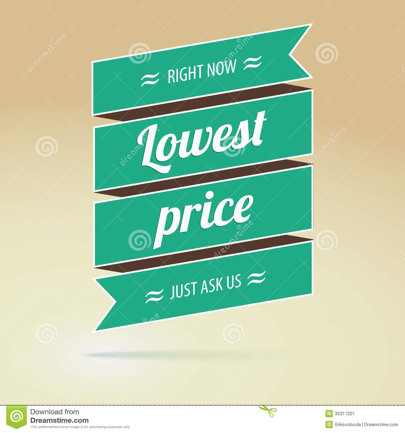 Lowest Price Poster, Vector Illustration Stock Image - Image: 35317201