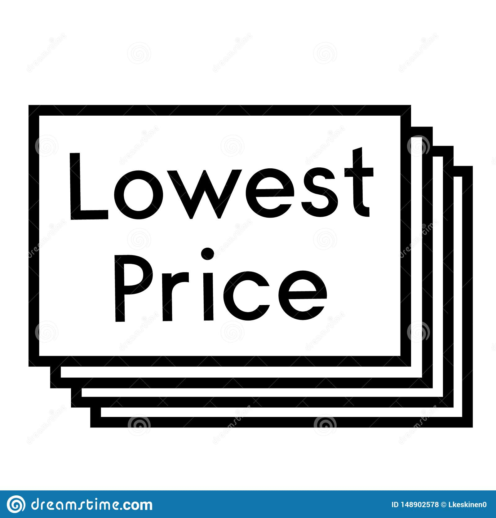 Lowest Price Stamp On White Background Stock Vector