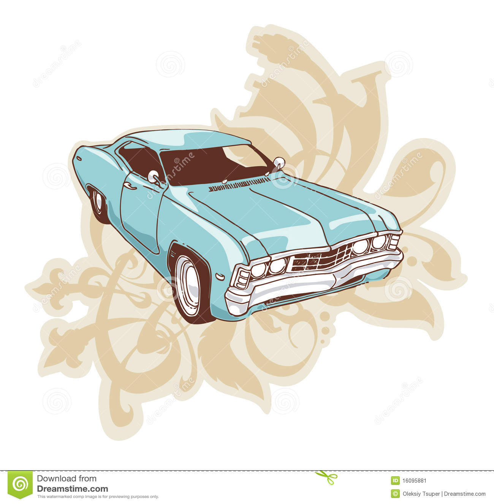 Lowrider De Chevrolet Impala Ilustracion Del Vector Ilustracion De Chevrolet Impala 16095881