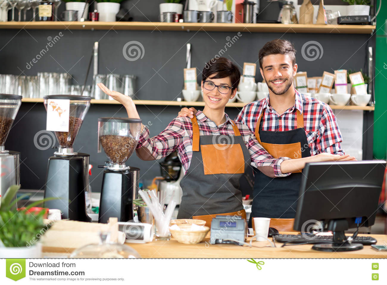Download Loyal And Attentive Professional Owner Stock Image - Image of happy, cafe: 75761539