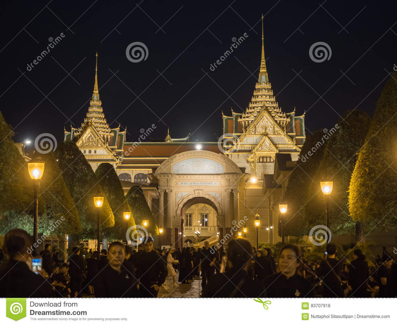 Loyalty Of Thai People Editorial Stock Photo