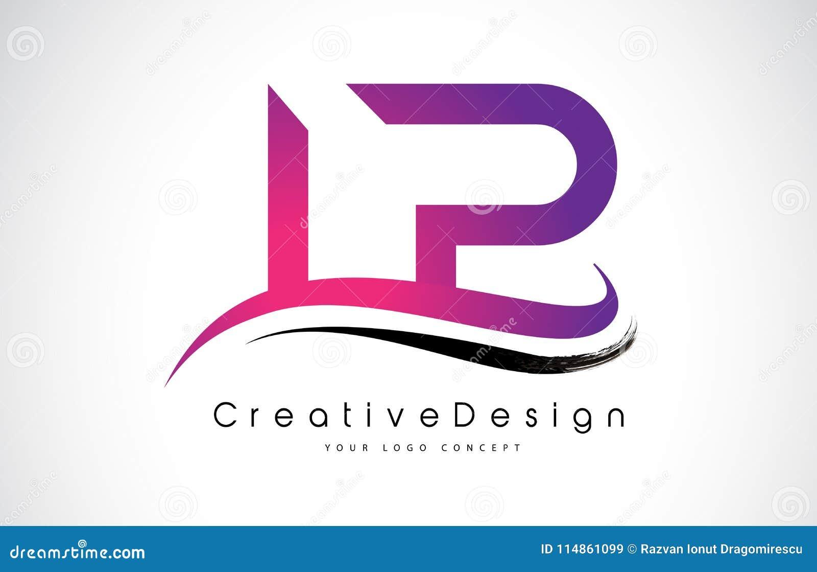LP L P信件商标设计 创造性的象现代信件传染媒介L