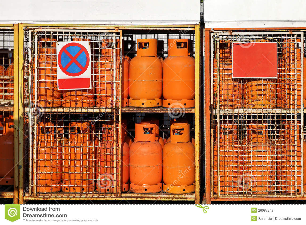 Lpg Gas Cylinders Stock Image Image Of Rack Petrol