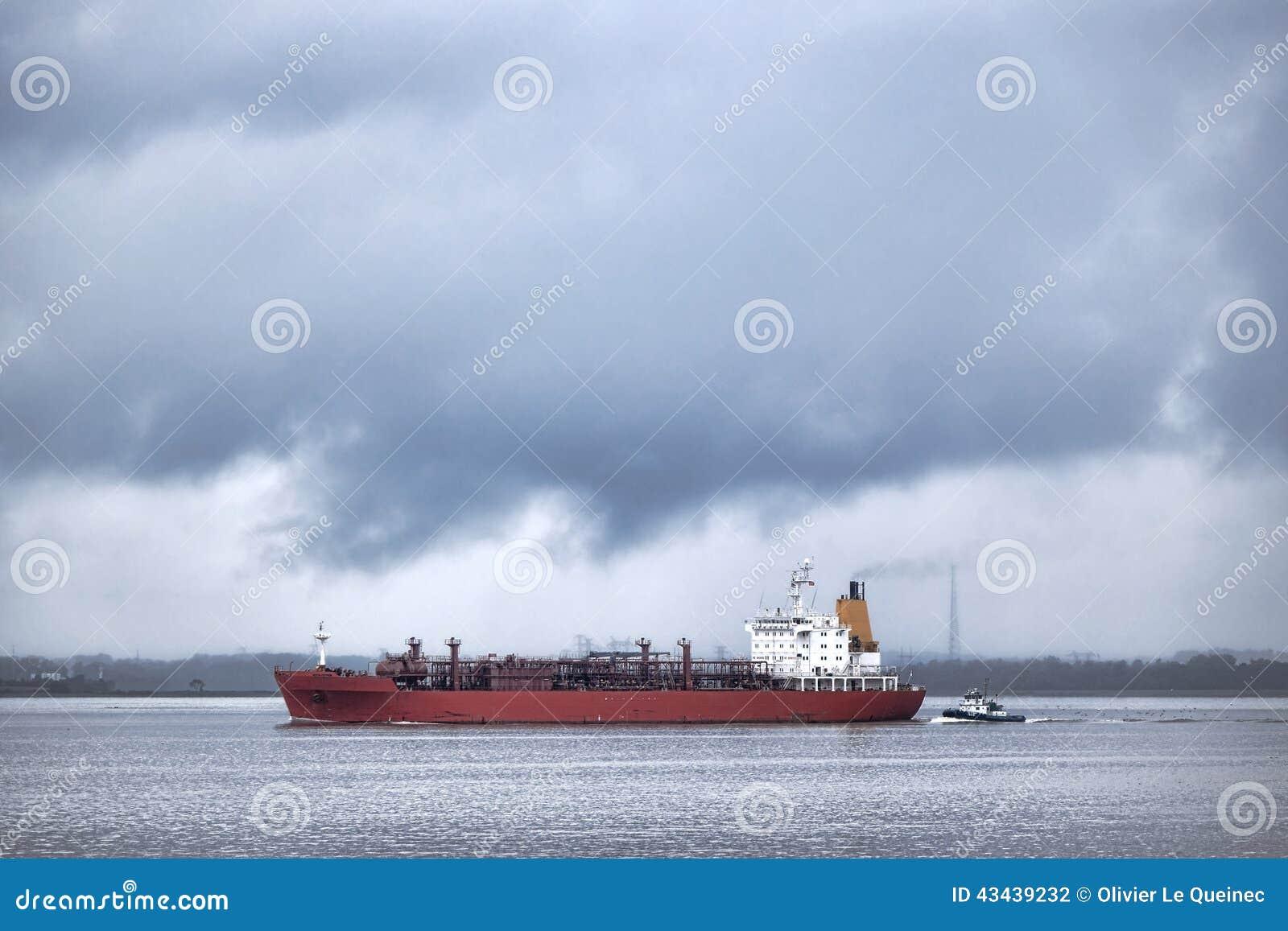 LPG Liquefied Petroleum Gas Tanker Ship Sailing Stock Photo